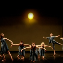 Lyrical dance on stage