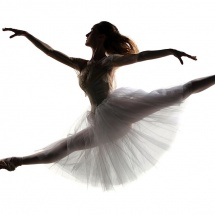 Ballet splits pose