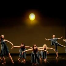 Lyrical dance on stage